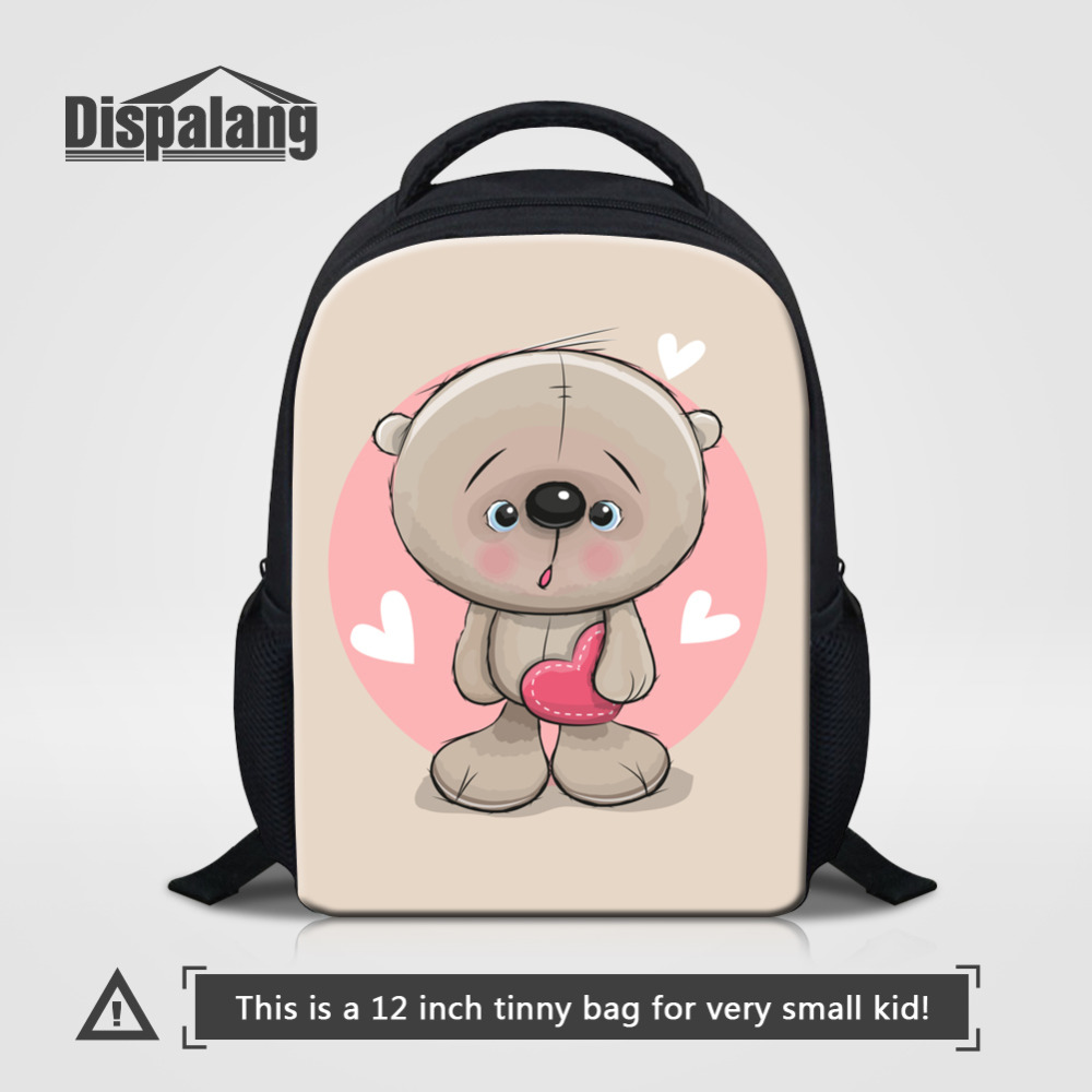 Dispalang Kids Backpack For Girls Cartoon Bear School Bags Kindergarten Schoolbag Animal Printing School Rucksack Cute Book Bag