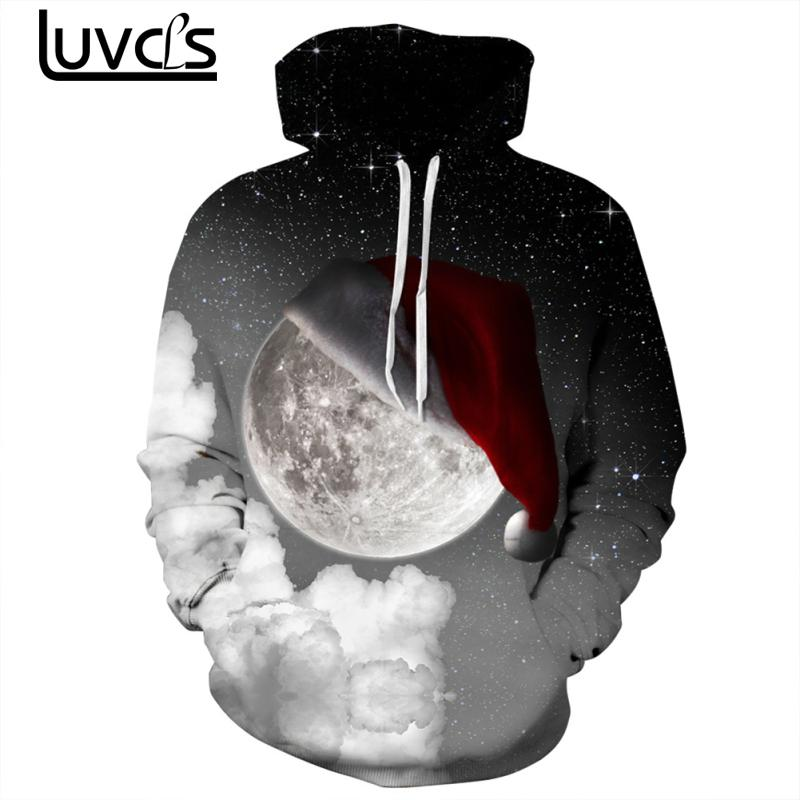 LUVCLS Star Printing Hooded Hoodies Sweatshirts Fashion Women Men Couple Daily Christmas Leisure Hooded Sweatshirts Plus Szize