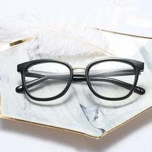 cfbde6abcc Mincl Mincl Retro square women glasses frame full men s myopia reading  glasses