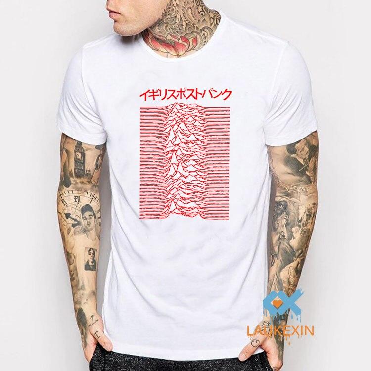 Pulsar art utilisé par joy division sur unknown plaisirs hommes camisetas t-shirt t-shirt homme harajuku o-cou japonais chemise usa taille