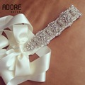 Vintage Long ivory Diamond Rhinestones appliques bridal belts Pearls crystals sash waistband wedding accessories custom made