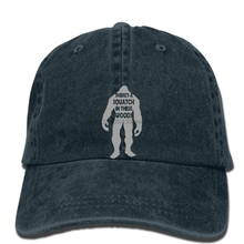 6fe565bc8e2 hip hop Baseball caps Men Funny hat Women Cool Sasquatch There s a Squatch  In These Woods