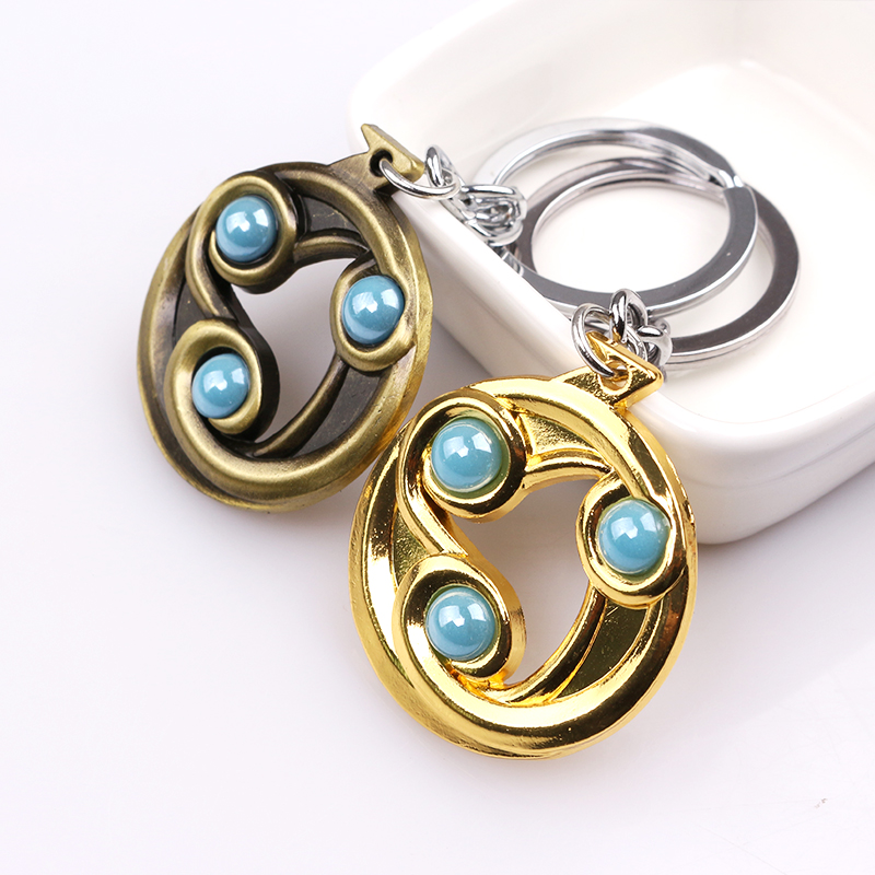 Dota2 Talisman of Evasion Keychain Pendant Gifts New Hot Game Peripherals Turret Alliance Keyring For Car key Accessories