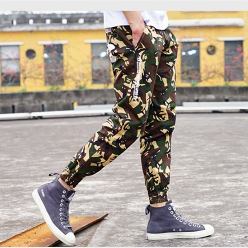 Bape Men Joggers New Male Khaki Army Green Camouflage ...