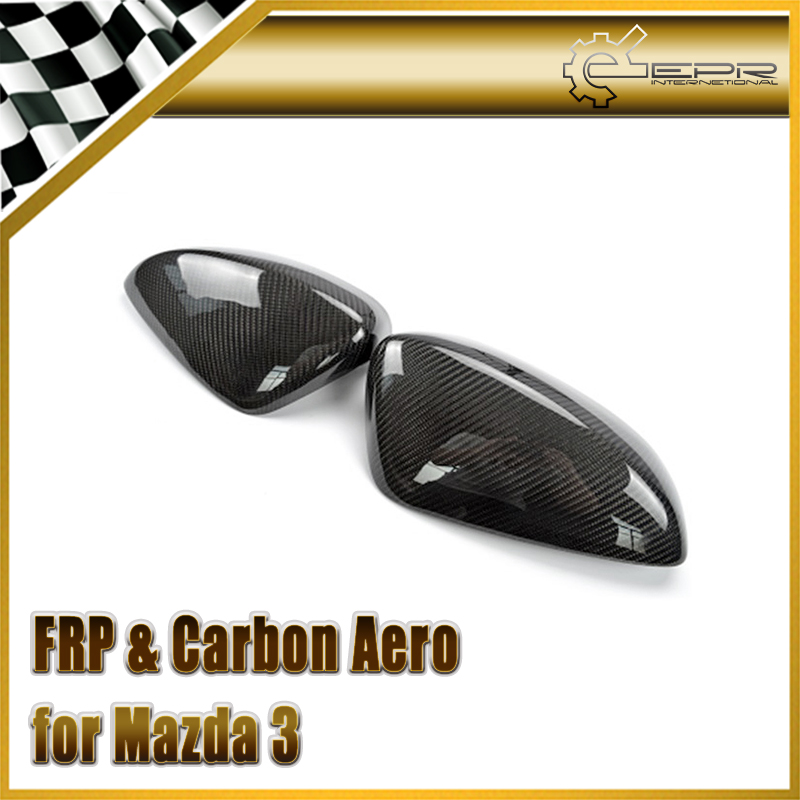 Car-styling For Mazda Mazda 3 Axela BM 2014 Carbon Fiber Mirror Cover epr car styling for mazda rx7 fc3s carbon fiber triangle glossy fibre interior side accessories racing trim