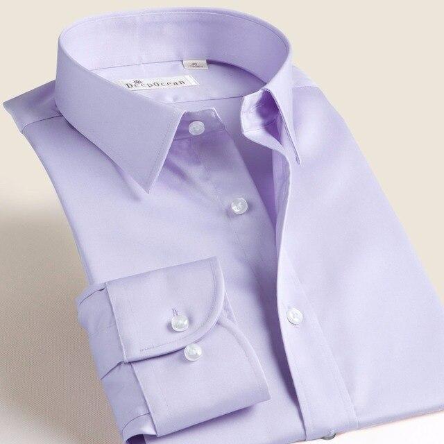 New Fashion brand clothing men's shirt  Business shirts mercerized cotton Dress shirt  wedding shirt  camisa social masculina