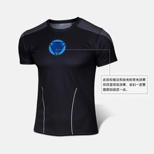 New 2015 men Iron man tight news Quick dry, brand 3D man short sleeve T-shirt size XS-XXXXL