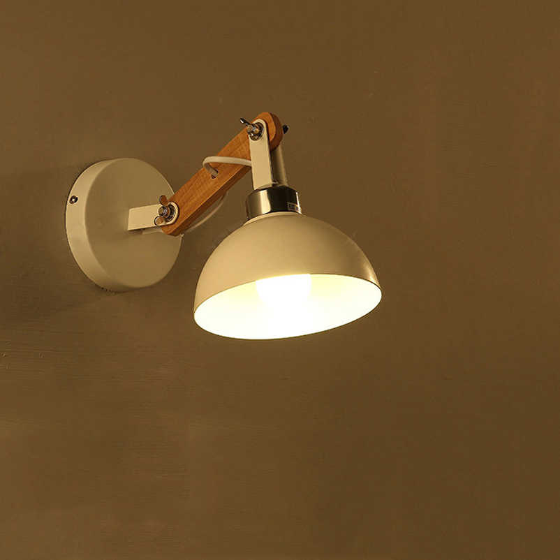 Creative retro wood wall light adjustable lighting fixtures,bedroom living room stair bedside study wall lamps wall sconce bra