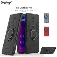 OnePlus 7 Pro Case Shockproof Armor Metal Finger Ring Holder Hard Phone Bumper OnePlus 7 Pro Cover OnePlus 7 Pro Kickstand Shell