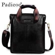 Hommes Meilleure qualité véritable réel en cuir de vache messenger sacs de luxe hommes d'affaires porte-documents noir sacs à main en cuir Sacs à Bandoulière