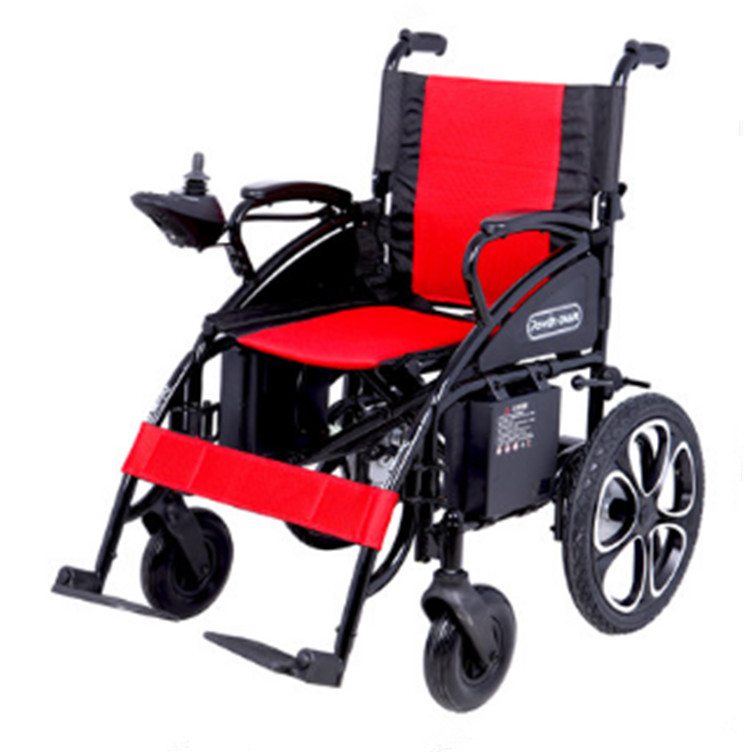 High quality foldable safety electrical wheelchair for handicapped outdoor folding power motorized handicapped electric wheelchair