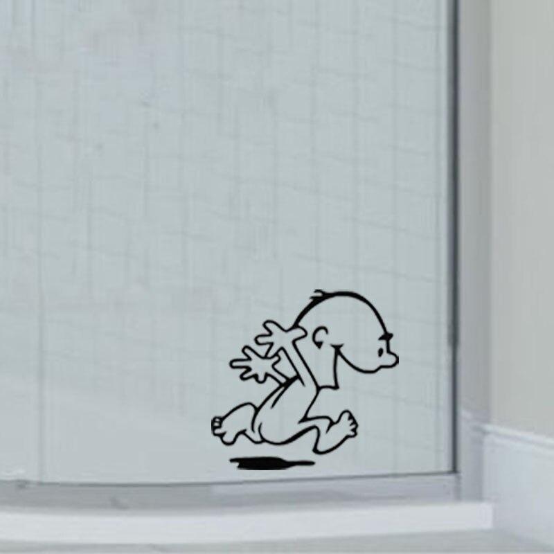 interessante nude runner boy vinile adesivi murali autoadesivi di vetro bagno decalcomanie a40040china
