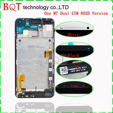 BQT Store LCD Frame for HTC HTC One M7 LCD Display with Touch Screen Digitizer Glass Assembly Guarantee Best Quality