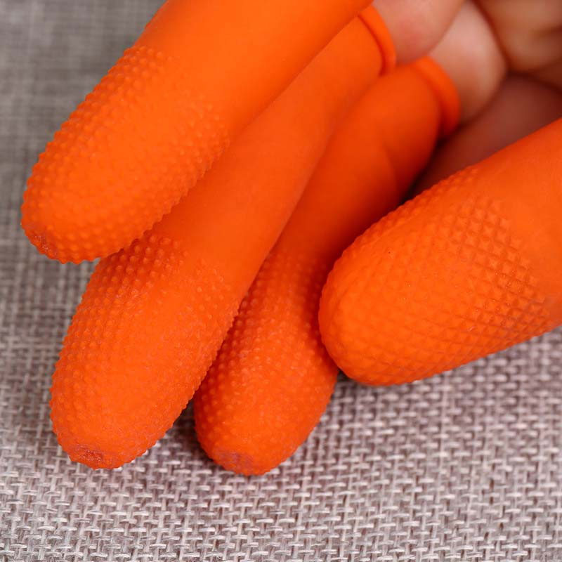 100pcs Multifunctional Fingertips Gloves Latex Rubber Finger Covers Protective Antislip Anti-static Protector XH8Z JU25
