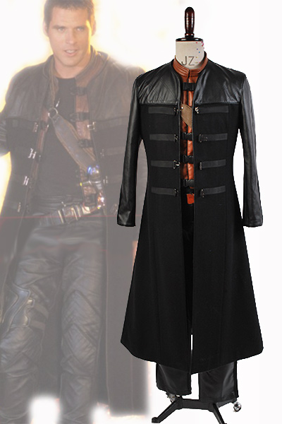 Farscape Commander John Robert Crichton Jr Cosplay Costume Coat Cape Adult Men Full Sets Halloween