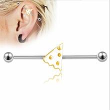 1PCS Stainless Steel Punk Ear Bone Nail Women Men Fashion Studs Earring Ear Tunnel Body Piercing Jewelry Barbell Lip Jewelry