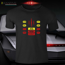 Kitt Eighties 80S Funny Knight Rider T Shirt Tv Hasselhoff Geek Cars Kit Cool Casual Pride Men Unisex New Fashion