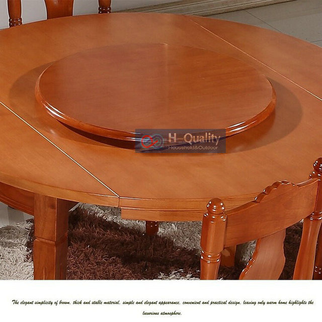 Solid Oak Wood Turntable Bearing Lazy Susan Dining Table Swivel Plate 700mm 28inch Diameter Of