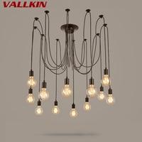 VALLKIN Creative Tiannvsanhua Edison Chandelier Retro Cafe Restaurant Bar 6 8 10 12 14 Lamps Chandeliers