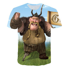 New summer launches T-Shirt Mens Woman Cute Tops How to Train Your Dragon Cartoon 3D Summer Clothes novel TShir