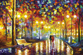 Walking in the rainy night puzzles wooden puzzles 1000 pieces adult puzzles wooden jigsaw puzzle 1000 pieces toys for children