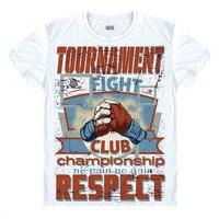 Hype Vintage VTG Retro MMA T Shirt Fight Clue Championship T Shirt Martial Arts Tshirt Boxing