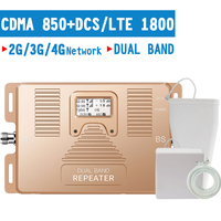 Walokcon 3G 4G Cellular Signal Repeater CDMA 850 DCS 1800 Dual Band Handy Booster 4G LTE verstärker 70dB Gain LCD Display
