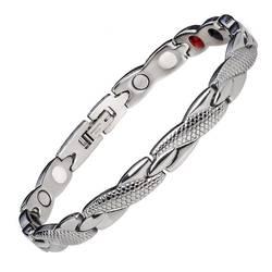 Модные украшения Исцеление Магнитный Биоэнергетический браслет для мужчин приборы измерения артериального давления аксессуар серебро
