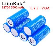 LiitoKala 32700 3.2 فولت 7000 مللي أمبير Lii 70A lifepo4 خلية بطارية قابلة للشحن LiFePO4 5C تفريغ البطارية لمصباح يدوي الطاقة الاحتياطية