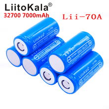 Liitokala 32700 3.2v 7000mah Lii 70A lifepo4 bateria recarregável lifepo4 5c bateria de descarga para lanterna de energia de backup