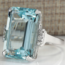 Fashion Square Stone Wedding Rings For Women 2019 Hot Sale S