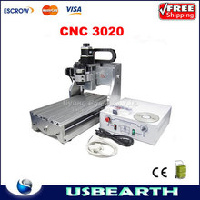 CNC 3020 Mini Engraving Machine CNC 2030 Drilling / Milling Router For PCB / Wood & Other Materials
