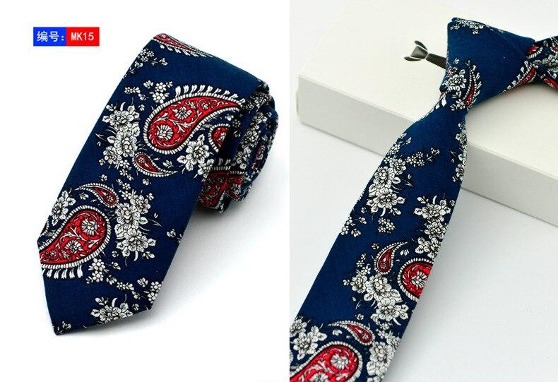 15 Stili New Casual Cravatte 100% Cotone Per Uomo Vintage Stampato - Accessori per vestiti - Fotografia 6