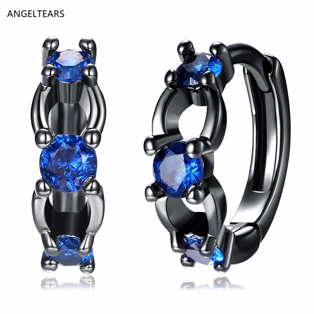 New design black gold color Clip Earrings with AAA zircon woman fashion party jewelry Christmas gifts brincos ANGEL TEARS brand