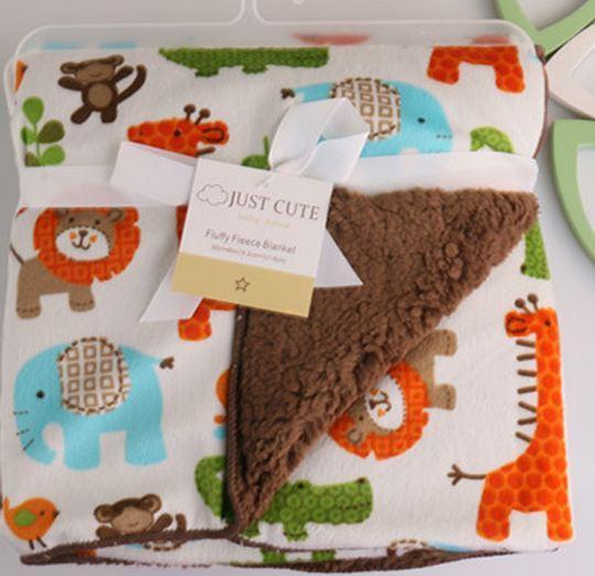 High Quality Plush Coral Fleece Baby Blanket Newborn Swaddle Wrap Super Soft Baby Receiving Blanket Warm Cobertor Baby Bedding