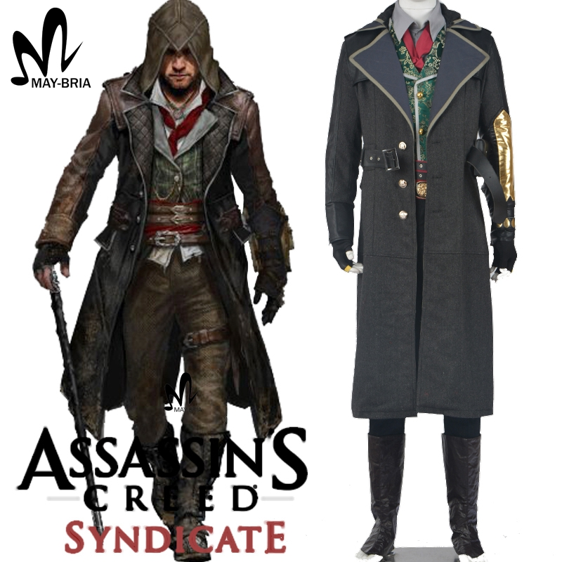 Assassins creed costume cosplay assassins creed syndicate Jacob Cosplay Costume Assassin's Creed jacket Hoodie Halloween costume assassins creed cosplay backpack men school bags official assassins creed syndicate logo school backpacks bag rucksack