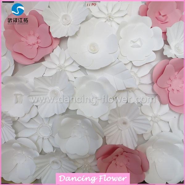 New Home Decor Wedding 100 Handmade Smiling Lotus Paper Craft Flower