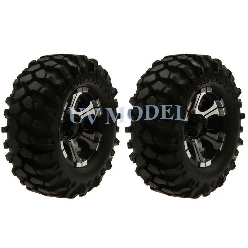 4 Stks/partij 1:10 RC Klimmen Crawler Auto Legering 1.9 inch Wielen + 108mm Rubber Tire Axiale SCX10 D90 Beadlock Velgen Topkwaliteit #5