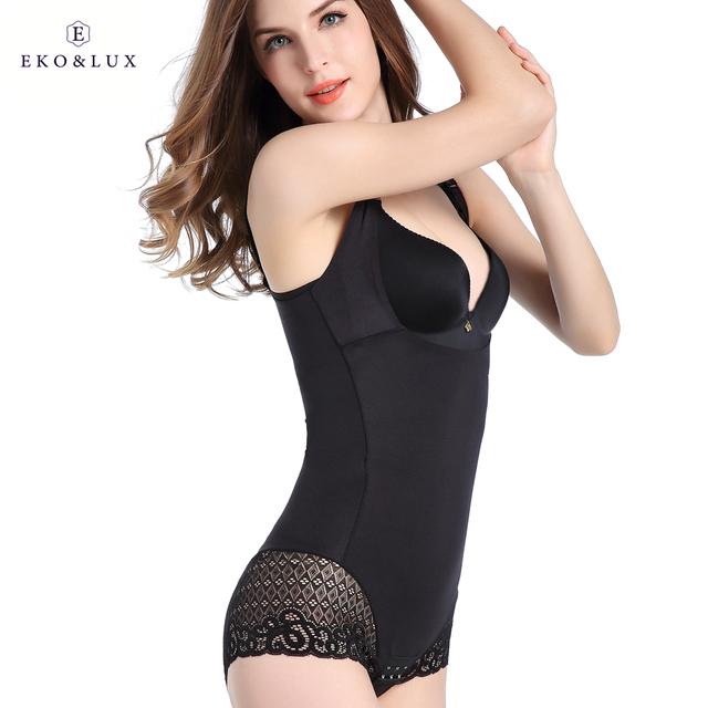 EKO&LUX High Quality Women's Shapers Lace Bodysuit Shapers Butt Lifter Plus Size Body Shaper Bodysuits Waist Cinchers Crosets