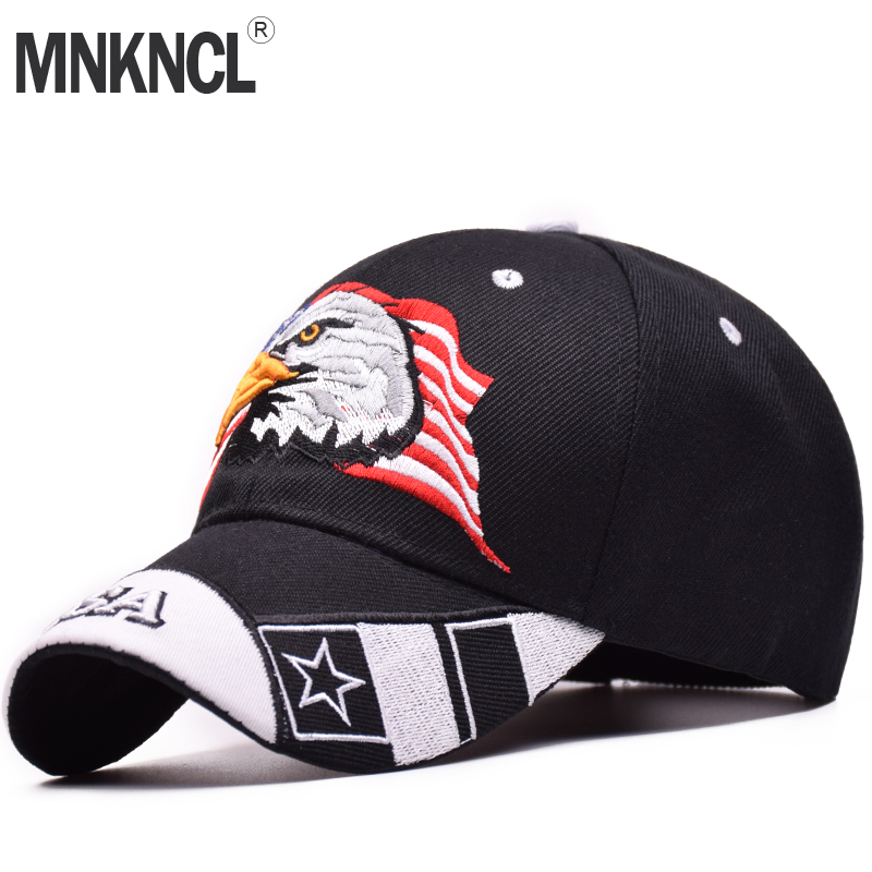 MNKNCL High Quality Unisex 100% Cotton Outdoor Baseball Cap Eagle Embroidery Snapback Fashion Sports Hats For Men & Women Caps fashion sports baseball cap men