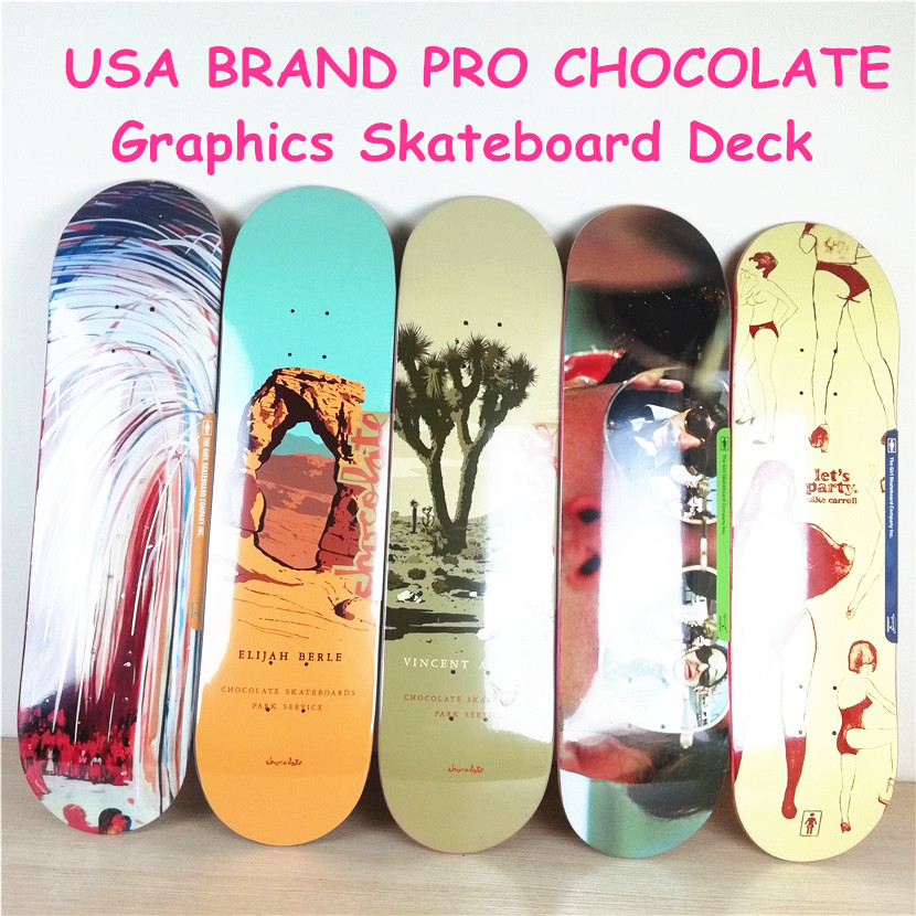 USA BRAND PRO Lasest design 1PC 8i 8.125 8.25 inch Chocalate Pro Skateboard Deck 7 Layers Full Canadian Maple Skate Board Deck 1pc 8inch blank skateboard deck orange black colored 7 layers full canadian maple skate board deck