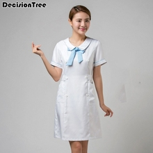 02e1212601d 2019 new women's stand collar anti wrinkle long sleeve nurse uniform dental  clinic doctor's outcoat fit