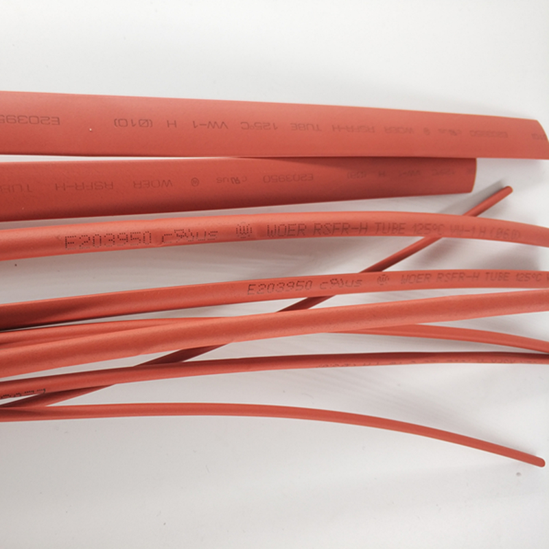 1 M/lot 2:1 Red Halogen free thermal shrinkable tube 5mm 6mm 8mm 10mm Heat Shrink Heatshrink Tubing Tube цена