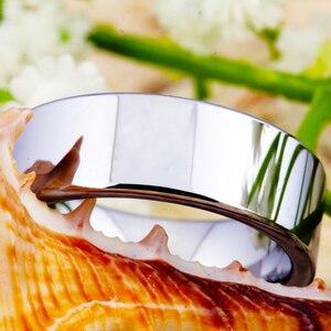 Image 4 - Hot sprzedaży 8MM szerokość klasyczna obrączka obrączki srebrne rury darmowe grawerowanie wolframu pierścienie węglikowe dla kobiet męska pierścień