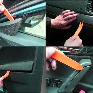 Image 5 - Panel de Radio portátil para coche, 4 Uds., Clip para puerta, embellecedor de Panel, instalador de eliminación de Audio, Kit de palanca, herramienta de reparación, herramientas manuales