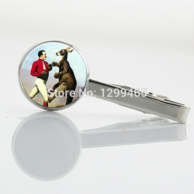Independent original design Tie pin Boxing Kangaroo Vtorian Era Art room Tie Clip High Quality art pture Tie Clips T 211