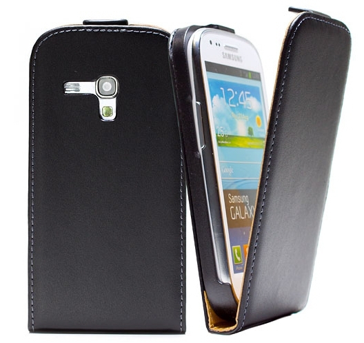 Geniune Flip luxury leather case For Samsung Galaxy S3 mini GT-I8190 i8190 Flipcover 11 Colors Available image