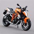 Ktm 1290 super duke r modelos a escala 1:12 de aleación modelo de la motocicleta modelo de la motocicleta de carreras de motos modelo toys regalo juguete de la motocicleta