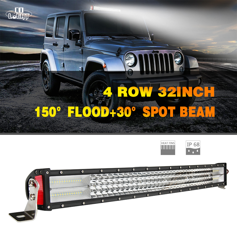 CO LIGHT Offroad Led Bar 32'' 8D 4-Rows 564W Spot Flood 32Inch Combo for 4X4 Off Road Tractor Lada Niva Car-Styling 12V 24V