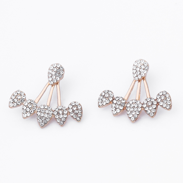KISSWIFE Drop Crystals Stud Earring for Women gold color Double Sided Fashion Jewelry Earrings female Earrings.jpg 640x640 - KISSWIFE Drop Crystals Stud Earring for Women gold color Double Sided Fashion Jewelry Earrings female Earrings